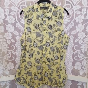 Attention Sheer Button Down Blouse #01076